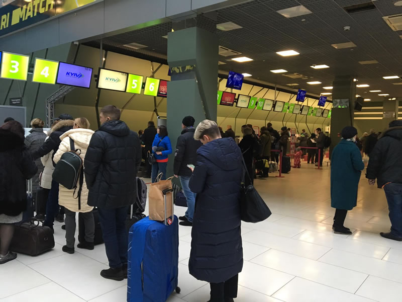 Сообщение о минировании международного аэропорта «Киев» не подтвердилось