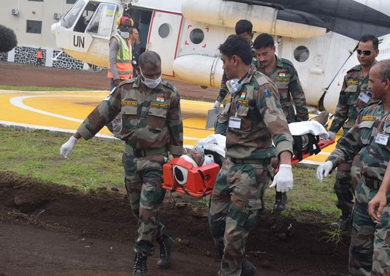 Украинские вертолетчики продолжают работу в Конго