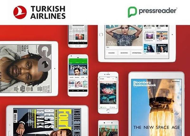 Turkish Airlines предлагает своим пассажирам цифровой доступ к более чем 7 000 изданий