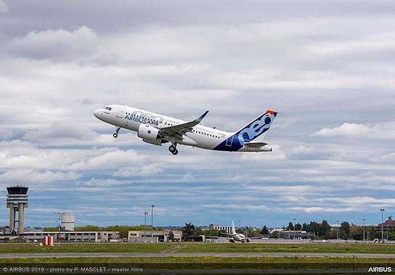 A319neo с двигателями PW совершил первый полет