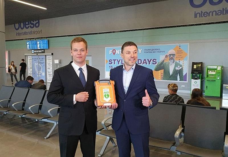 В Одесском аэропорту установлен автоматический внешний дефибриллятор