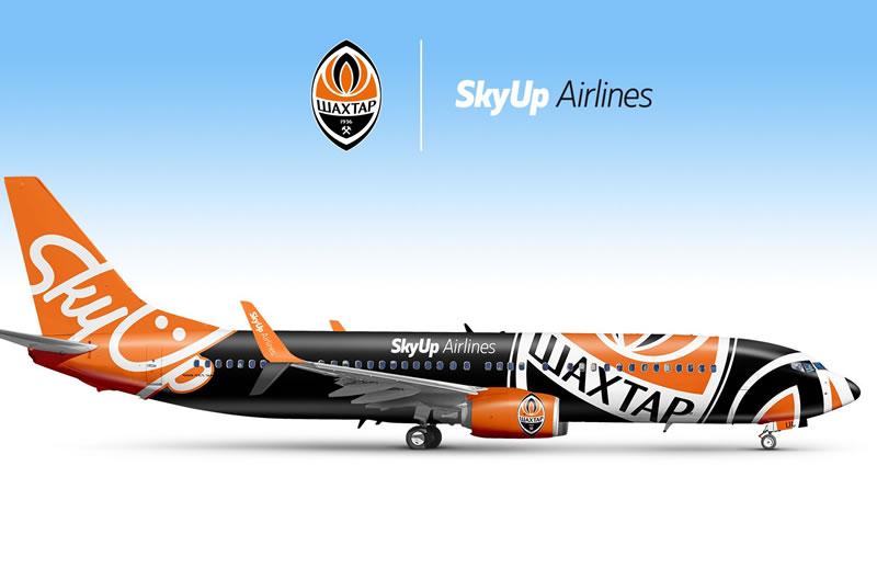 Самолет SkyUp в ливрее