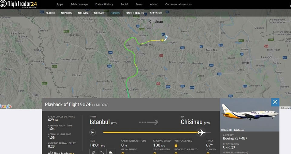 Блог об авиации в Молдове удалили из Facebook