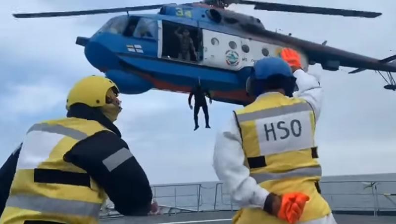 Ми-14 10 бригады морской авиации тренируется с британцами