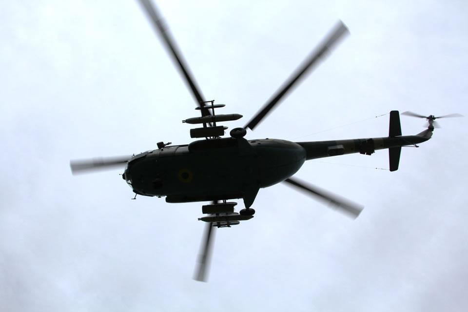 Проходят масштабные учения вертолетчиков ВСУ