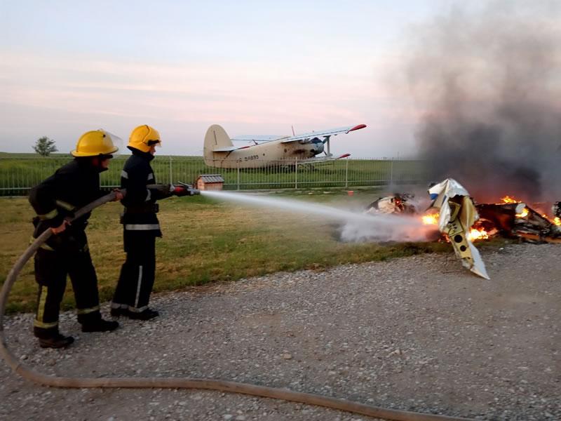 На Херсонщине сгорела «Socata»