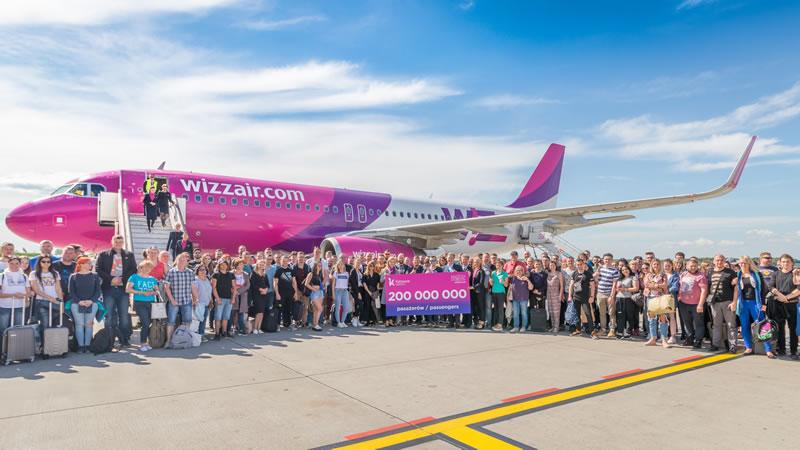 WIZZ AIR отмечает значительные достижения: 15 лет работы и 200 миллионов перевезенных пассажиров
