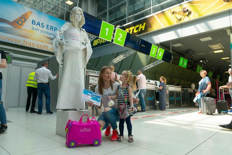 Аэропорт «Киев» встретил миллионного с начала года пассажира