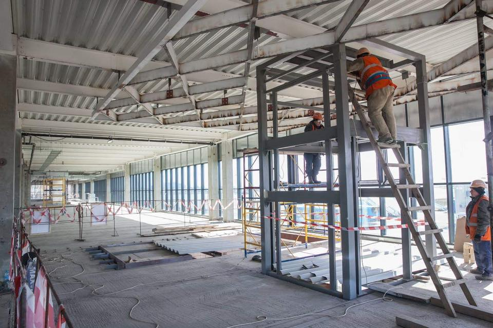 В новом терминале в Запорожье начались отделочные работы
