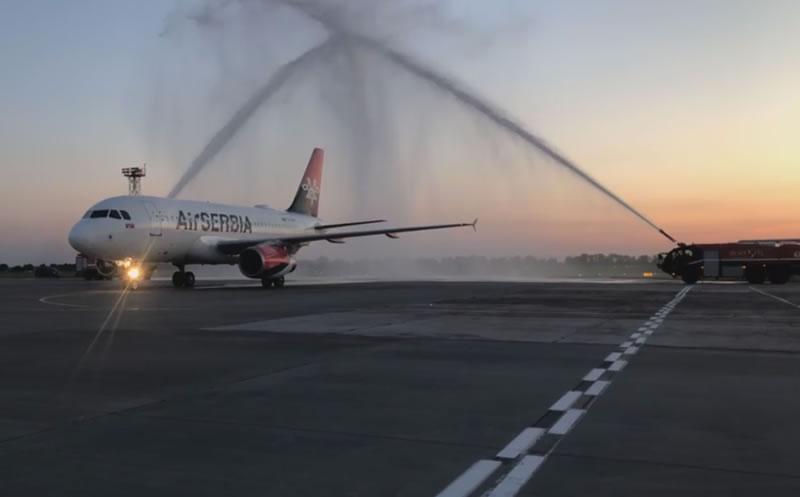 Первый рейс Air Serbia встретили в Борисполе
