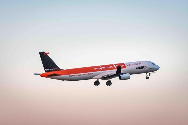 Airbus испытывает самолет с крылом альбатроса