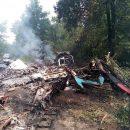 В Полтавской области загорелся самолет АН-2 после аварийной посадки