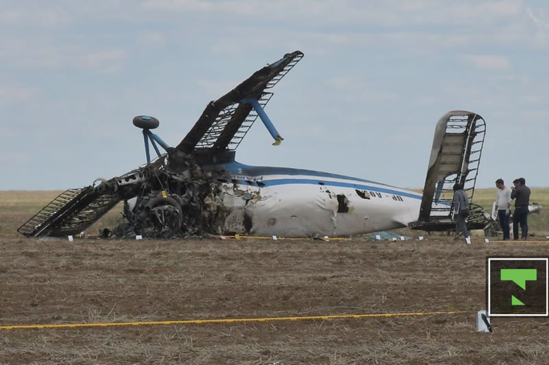 В Казахстане упал самолет Ан-2