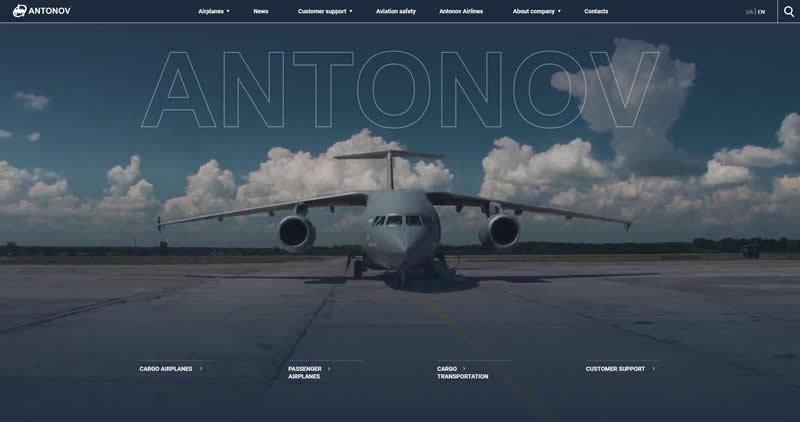 Новый сайт ГП «Антонов»