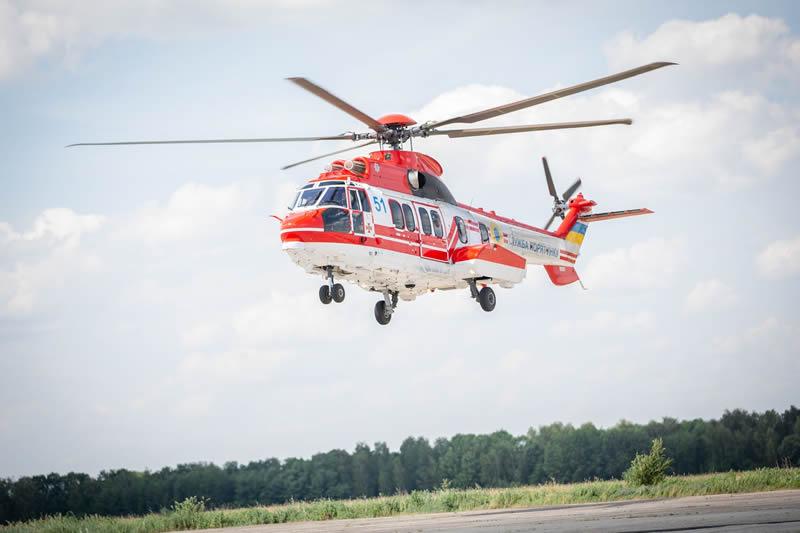 В Украину прибыл первый в этом году вертолет Н225 для системы авиабезопасности МВД