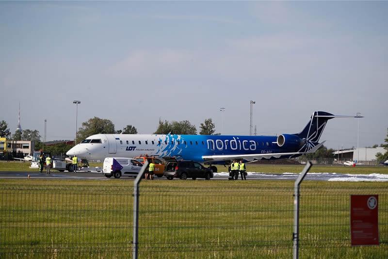 Самолет, летевший из Киева, совершил аварийную посадку