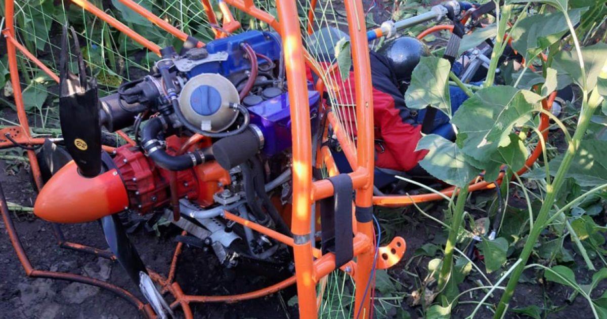 В Полтавской области дельтаплан упал в поле