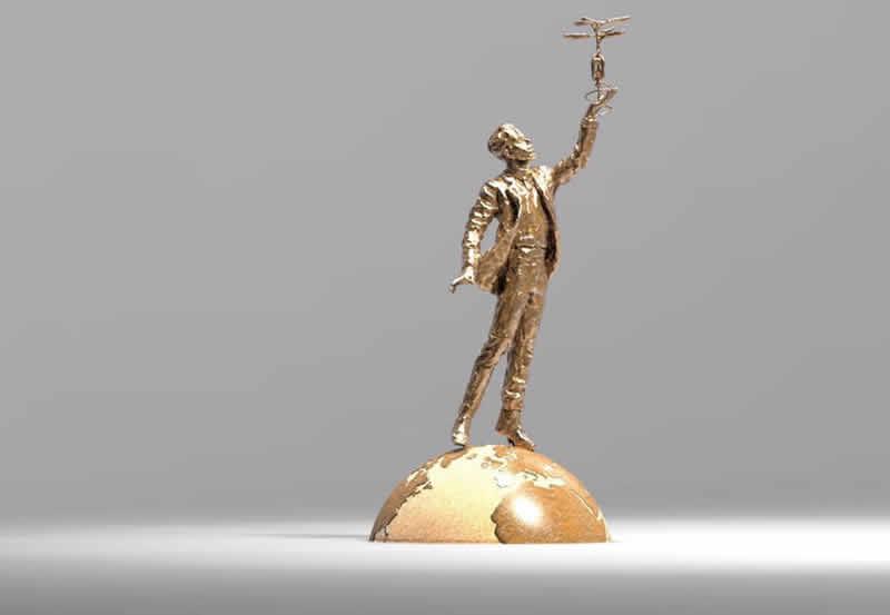 Кличко показал, как будет выглядеть памятник Сикорскому