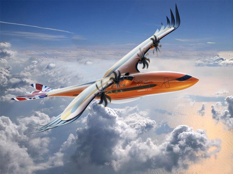 Компания Airbus представила авиалайнер будущего