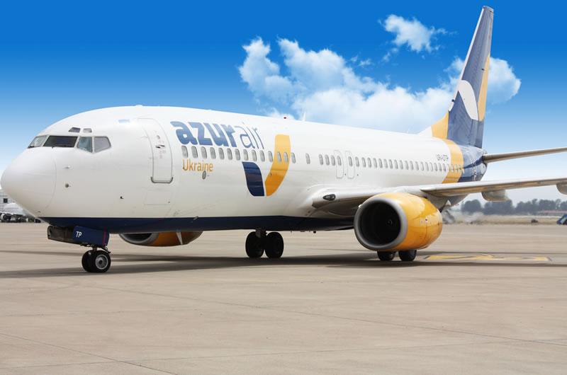 Авиакомпания «Азур Эйр Украина» за 2 квартал перевезла полмиллиона пассажиров