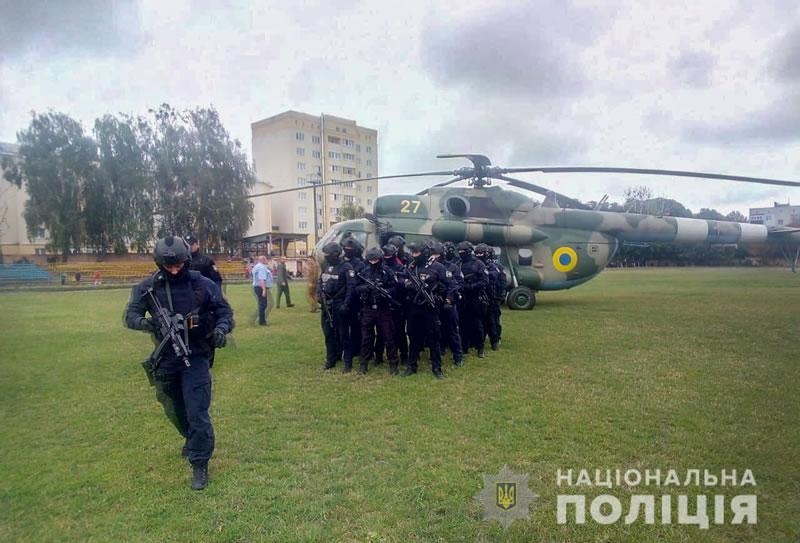 Полиция применила вертолет на выборах