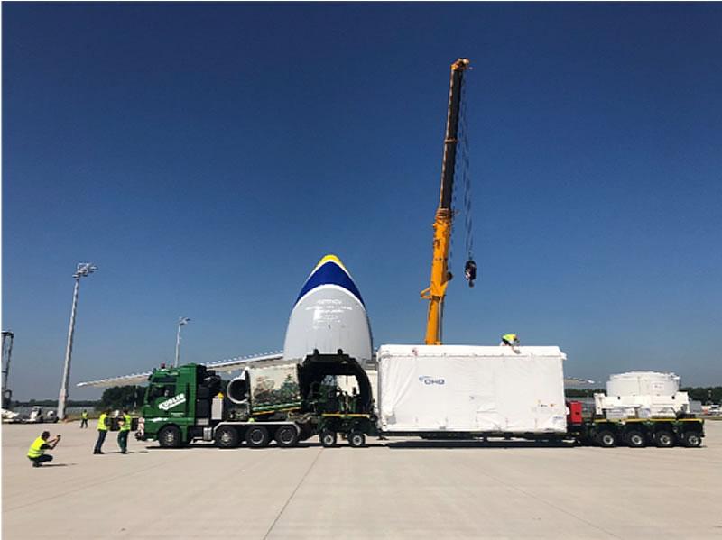 «Авиалинии Антонова» перевезли немецкий спутник в Южную Америку