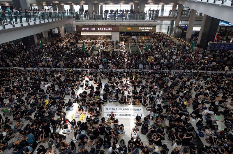 Аэропорт Гонконга закрыт
