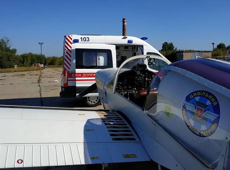 «Гражданский Воздушный Патруль» в Харькове спасал девочку