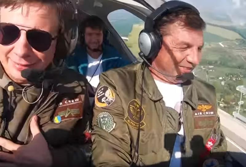 Рекордный полет над Украиной