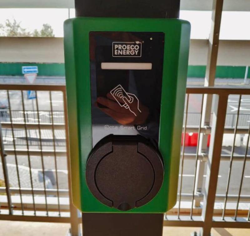 В аэропорту Борисполь появились зарядные станции для электромобилей