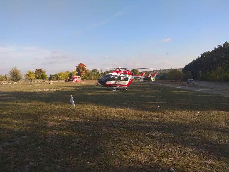 Хасида эвакуировали в больницу на вертолете