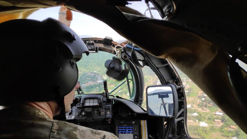 Продолжается боевая работа украинских вертолетчиков в Конго