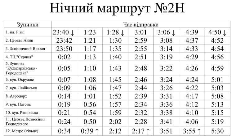 Ночной автобус будет заезжать в аэропорт Львов