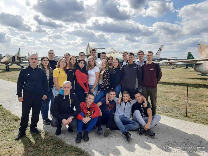 Первокурсники Академии Внутренних дел посетили Государственный музей авиации Украины
