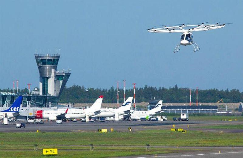 Компания Volocopter испытала мультикоптер в аэропорту