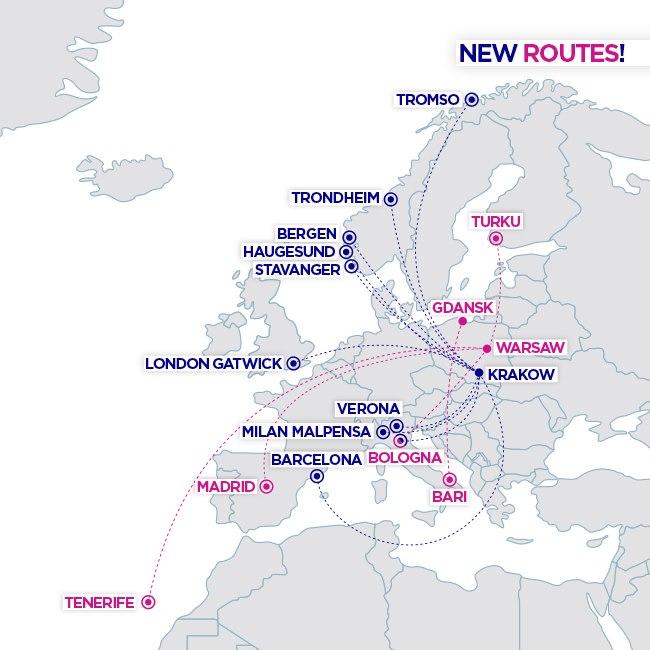 Wizz Air расширяет деятельность в Польше
