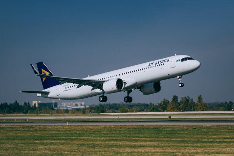 «Эйр Астана» представила свой первый дальнемагистральный лайнер Airbus A321LR