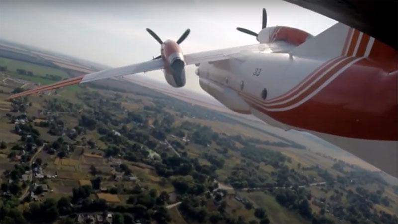 Тренировочные полеты на Ан-32П