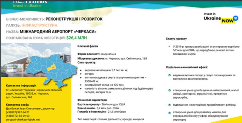 В Мариуполе представили проект развития аэропорта Черкассы