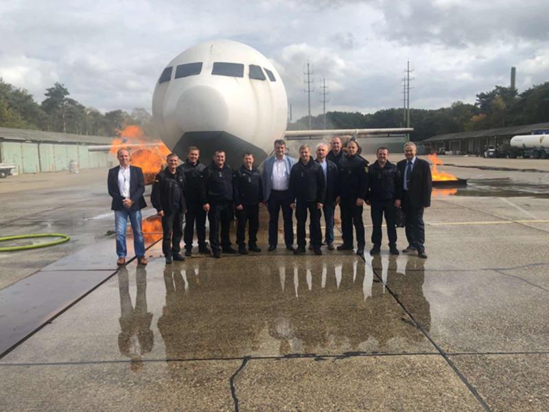 При поддержке Ассоциации «Аэропорты Украины» спасатели тренировались в Дюссельдорфе