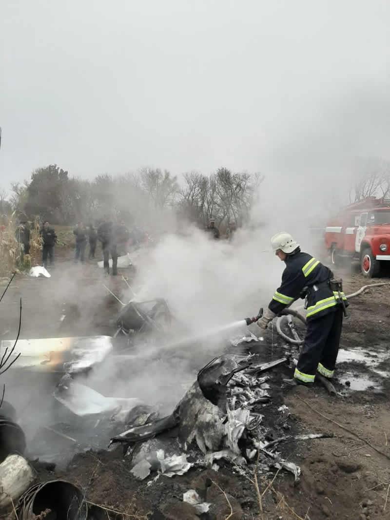 В Полтавской области разбился вертолет