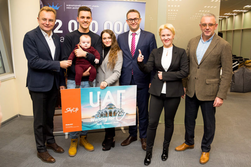 Аэропорт Львов преодолел отметку 2 миллиона пассажиров