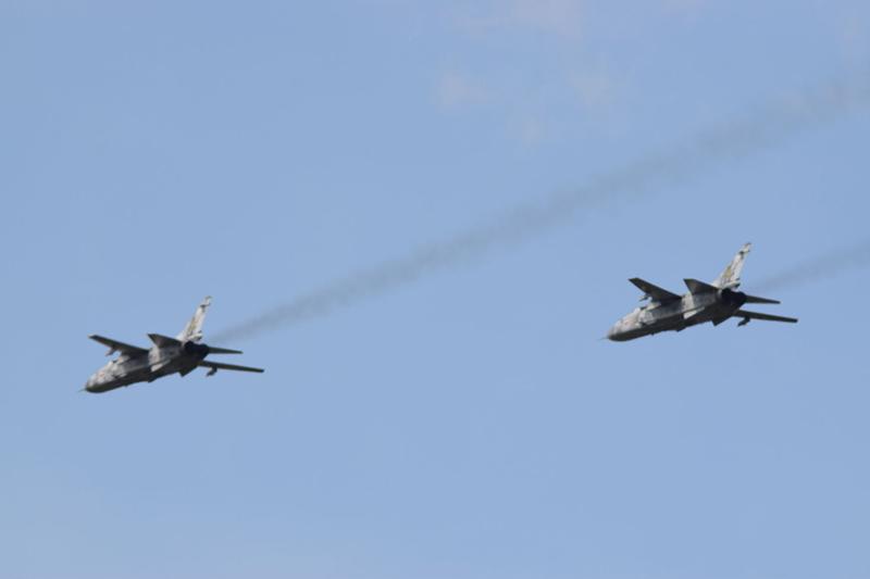 Бомбардировщики тренируются в дозаправке в воздухе - впервые за 20 лет