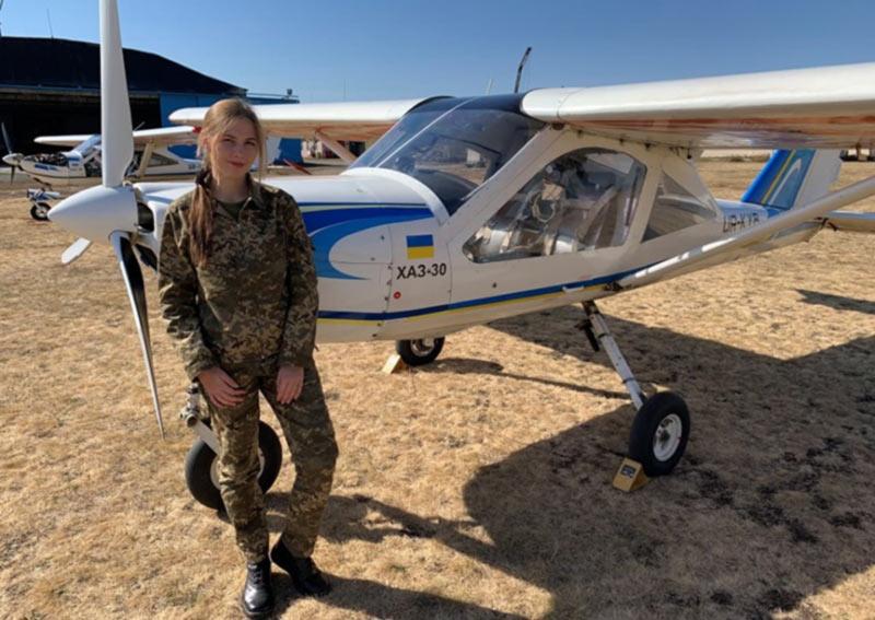 Маргарита Погорелая - единственная курсантка-летчик ХНУВСа