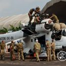 Ударный вертолет украинского нацконтингента вернулся в строй