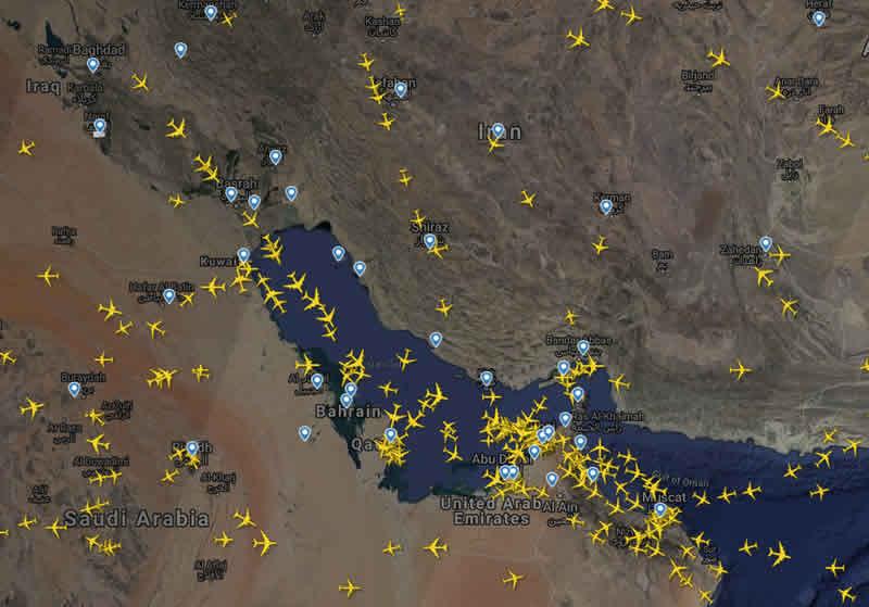 США ограничили полеты в районе Ирана