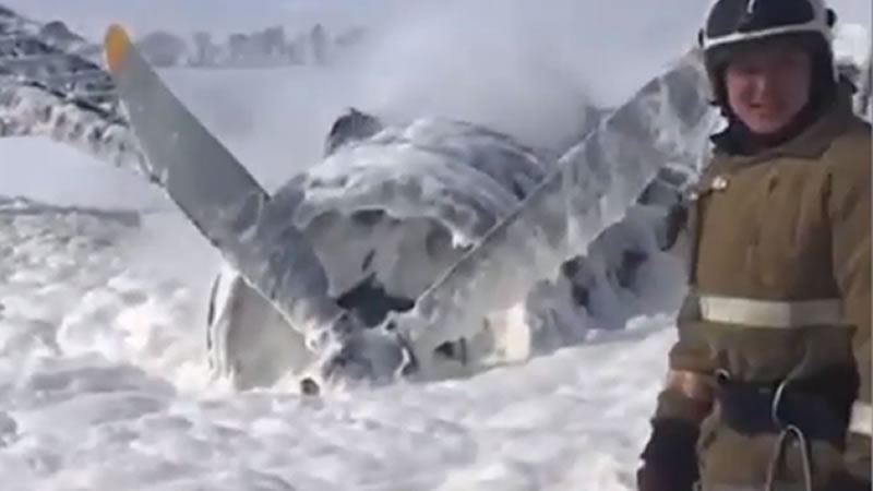 Самолет Ан-2 совершил аварийную посадку в Казахстане
