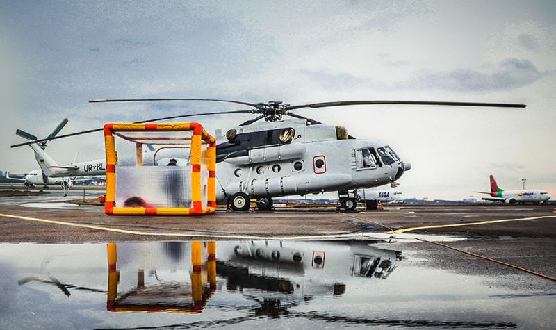 В аэропорту Киев заступил на дежурство санитарный вертолет