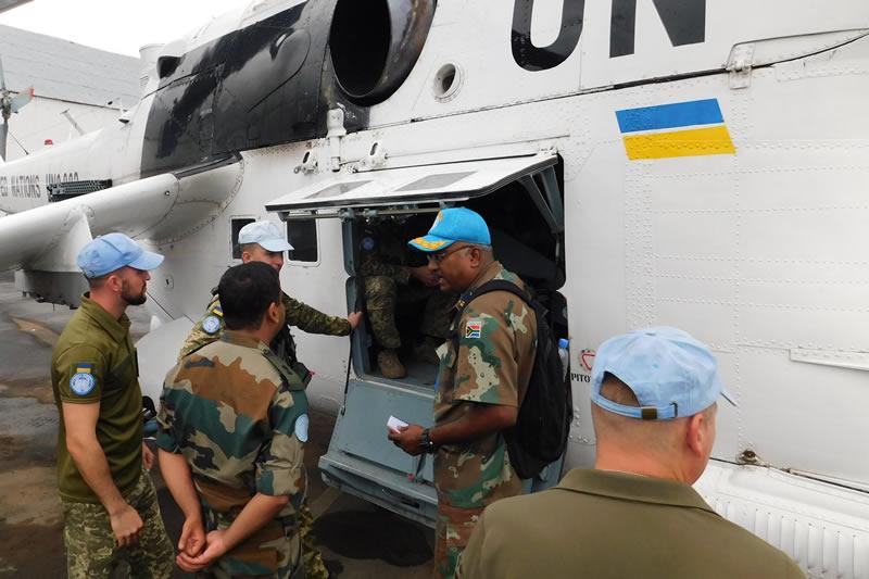 Инспекторская группа ООН проверила 18й вертолетный отряд