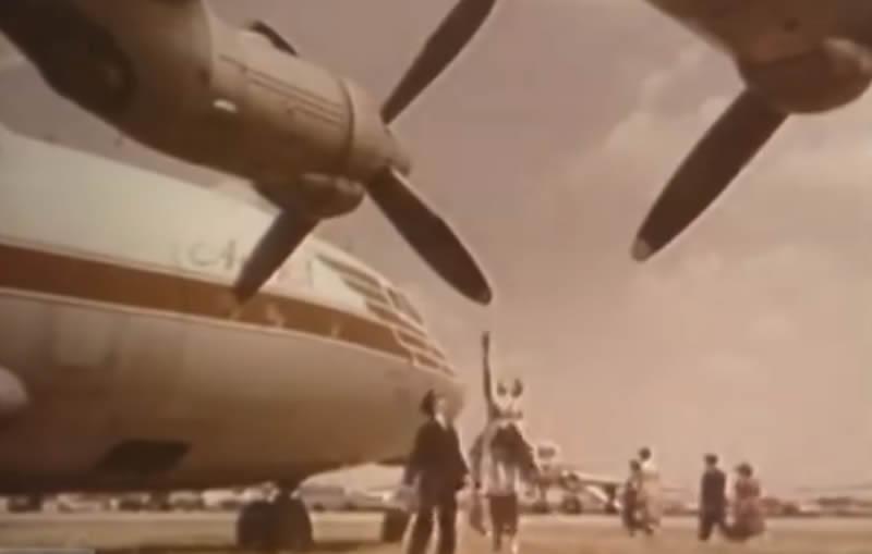 Необычный полет на Ан-10А